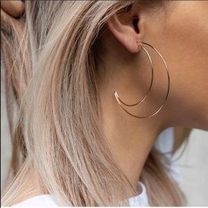 Jewelry - Moon Shaped Dangle Earrings Gold or Silver